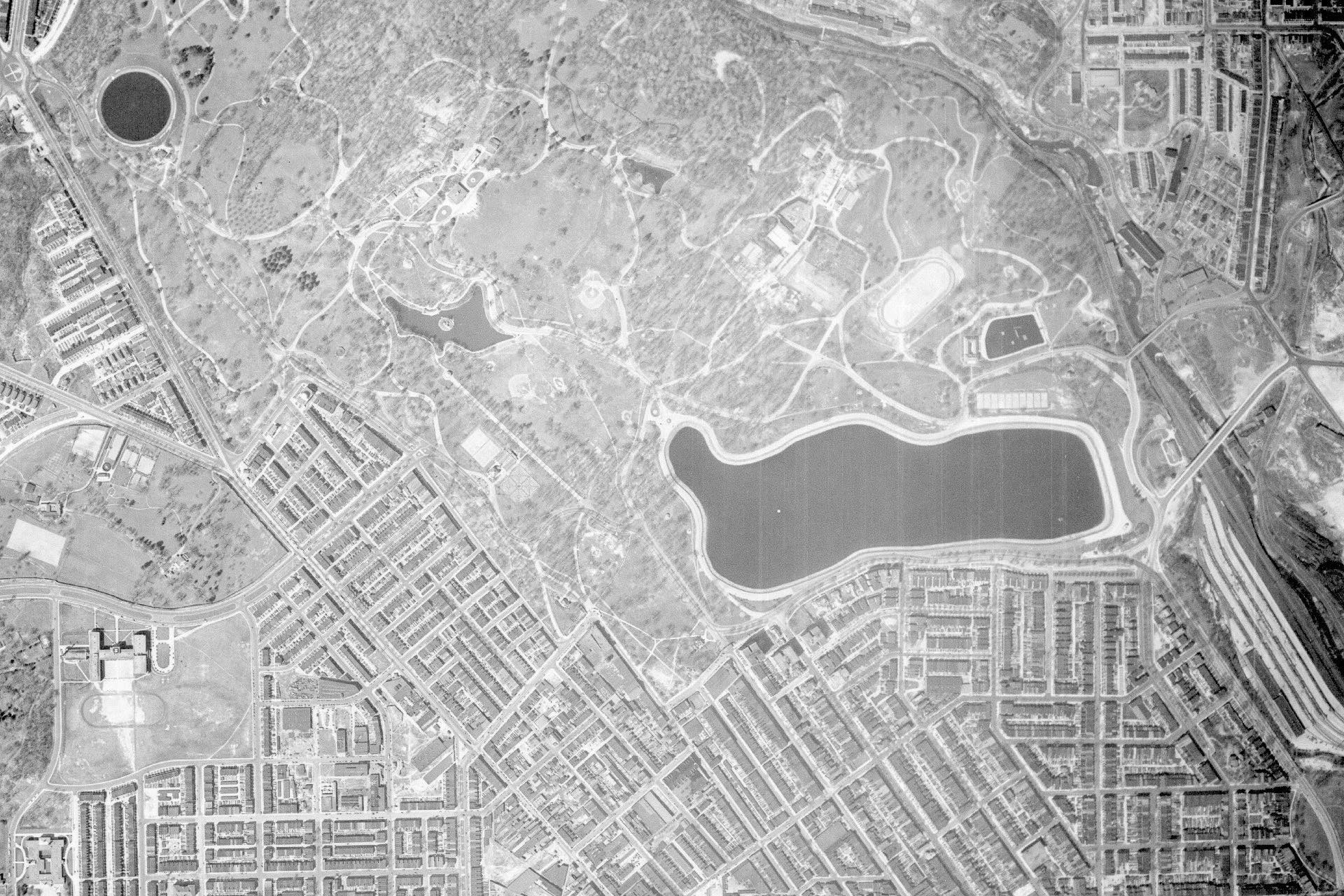 1938 Druid Hill Park before highways