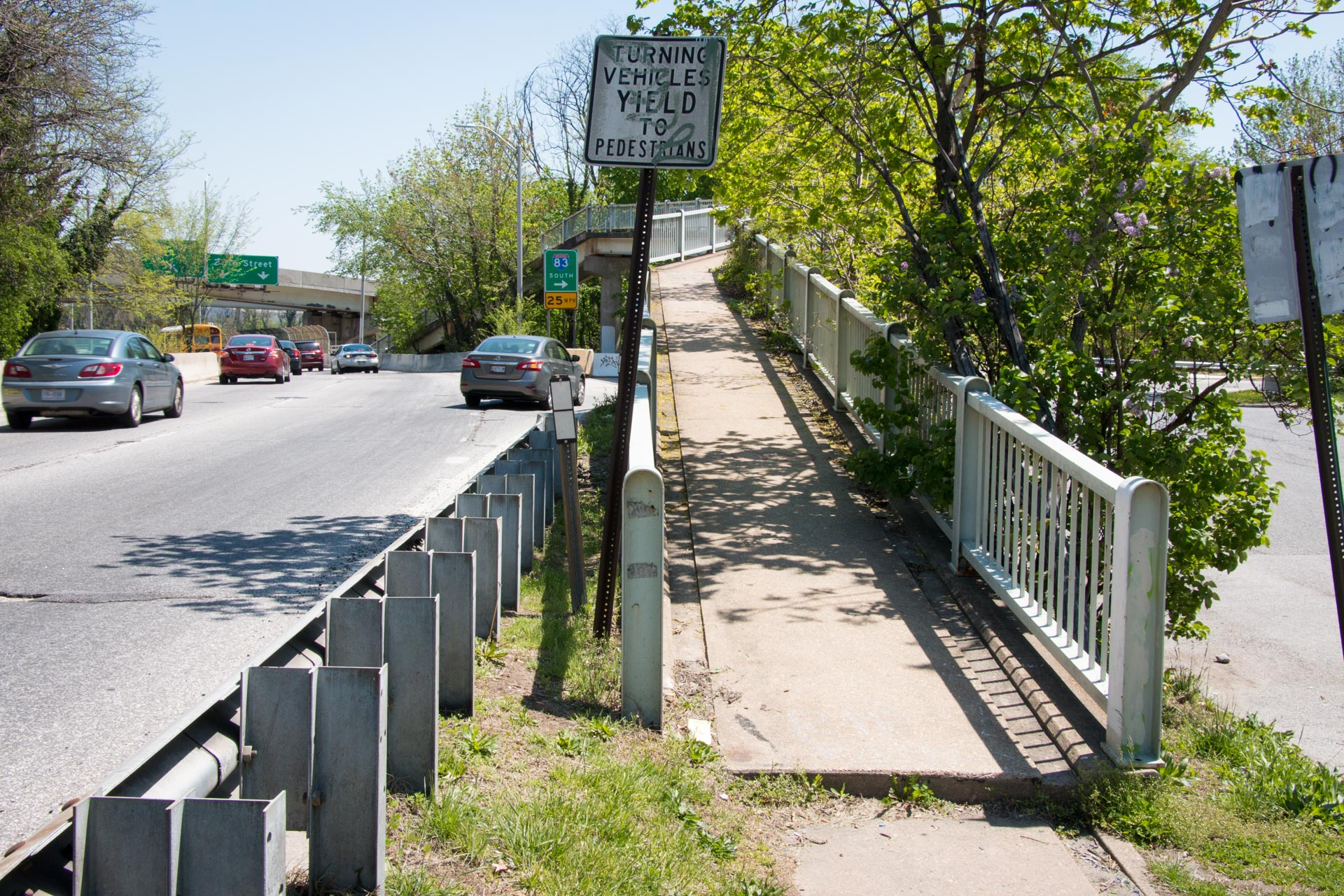 180501 Druid Hill Park pedestrian access conditions 03 non-accessible pedestrian bridge ramp