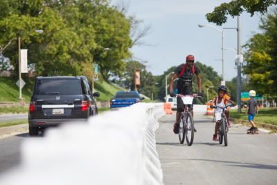 180830 Big Jump father and son bicyclists, photo by Brian O'Doherty