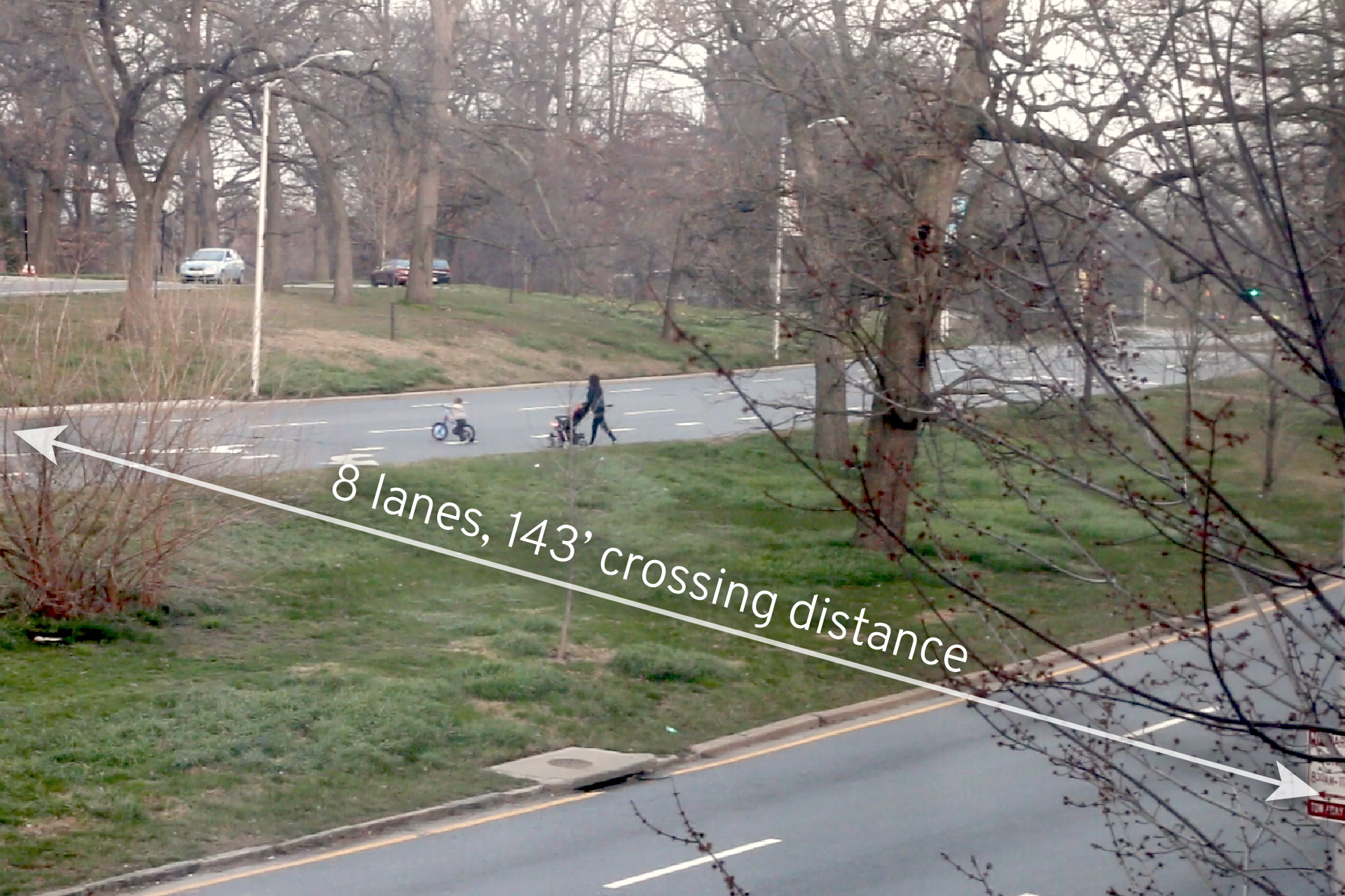Druid Hill Park 3100 Auchentoroly family crossing distance