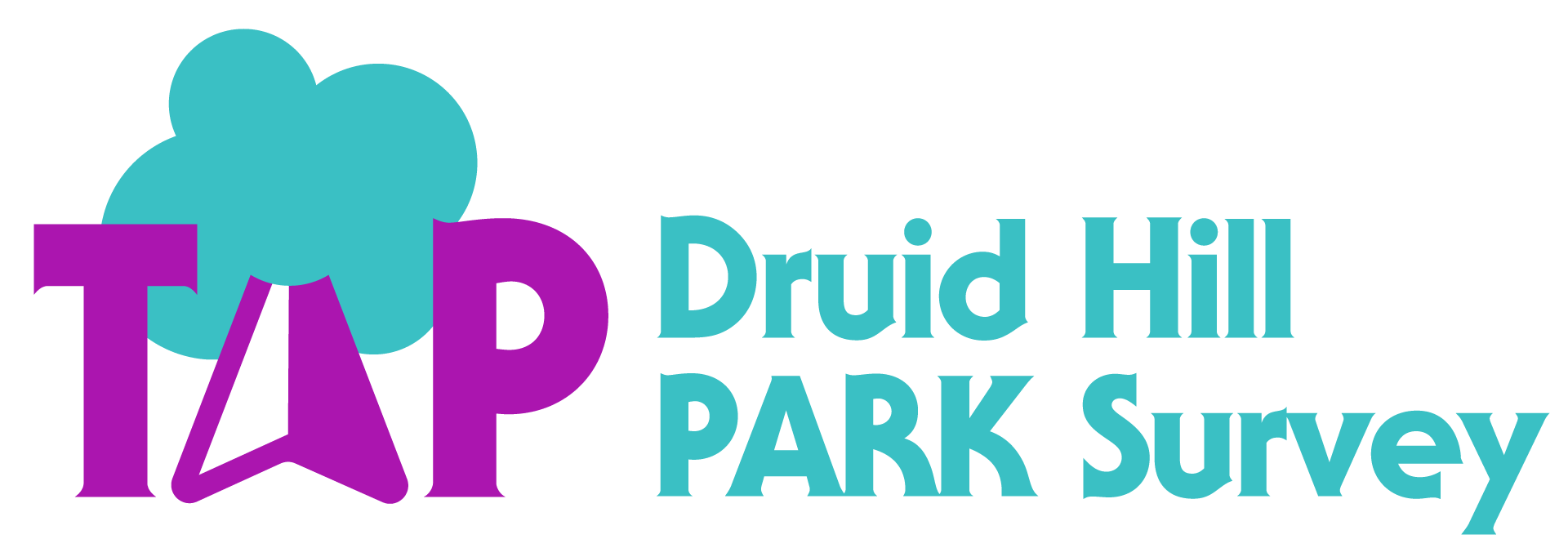 TAP Druid Hill PARK Survey horizontal logo