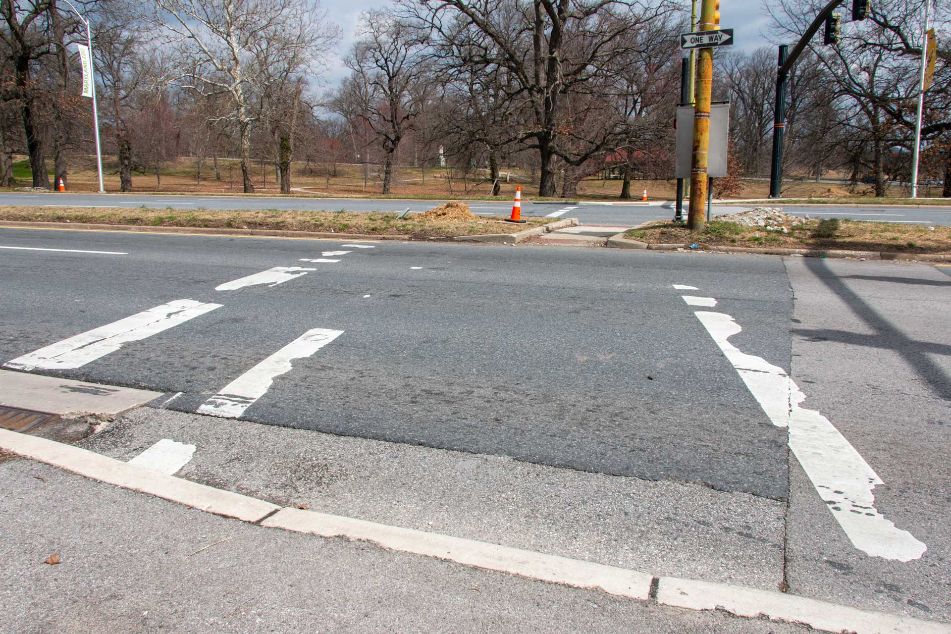 Fulton Druid Hill Ave Crosswalk before 01