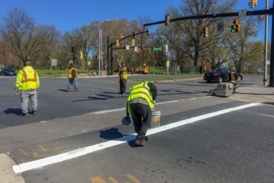 Auchentoroly Terrace & Gwynns Falls Parkway crosswalks repair