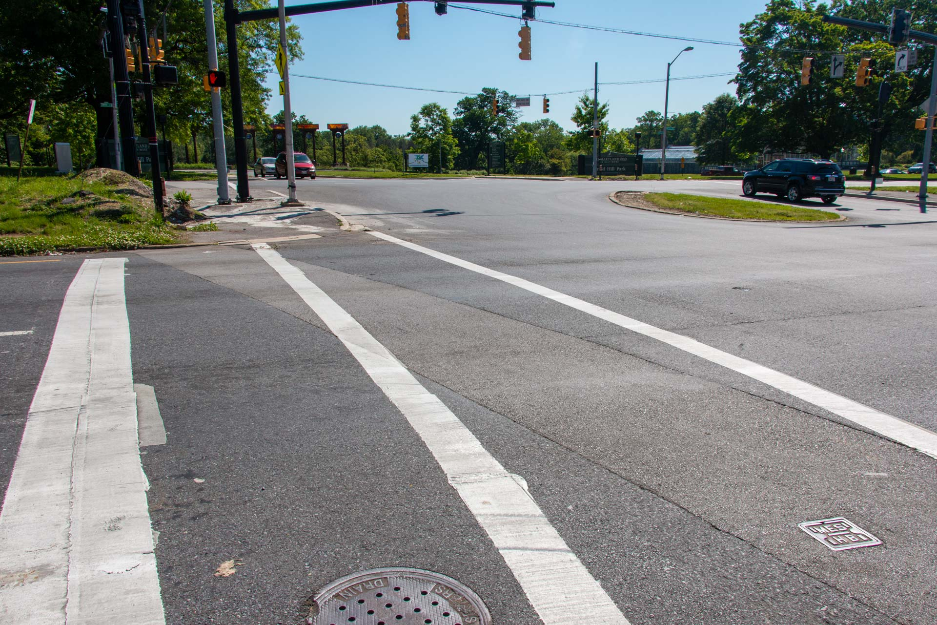 Auchentoroly Gwynns Falls crosswalk after