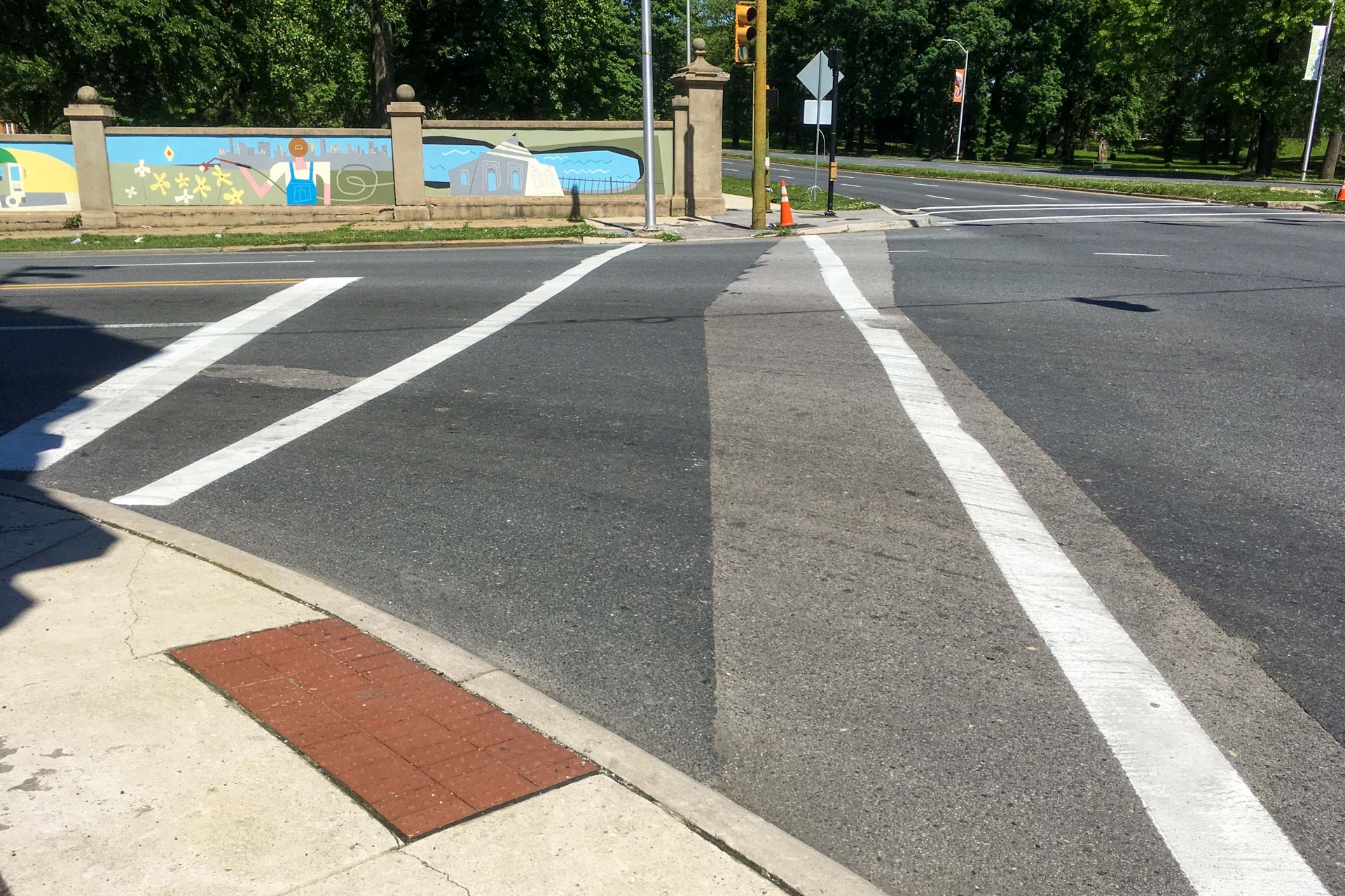 Fulton Druid Hill Ave Crosswalk Mural after