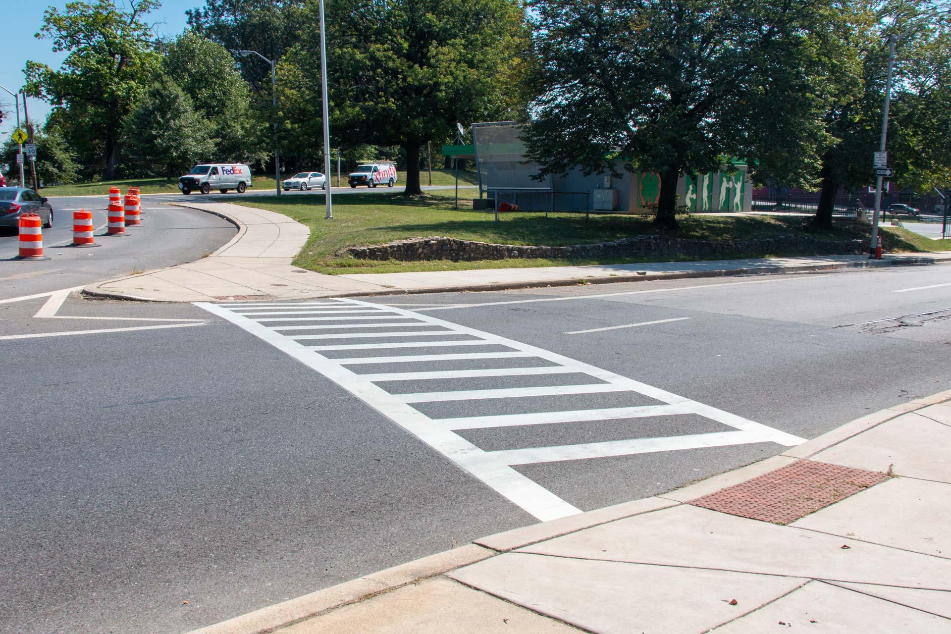 190904 Druid Hill Ave crosswalk after east