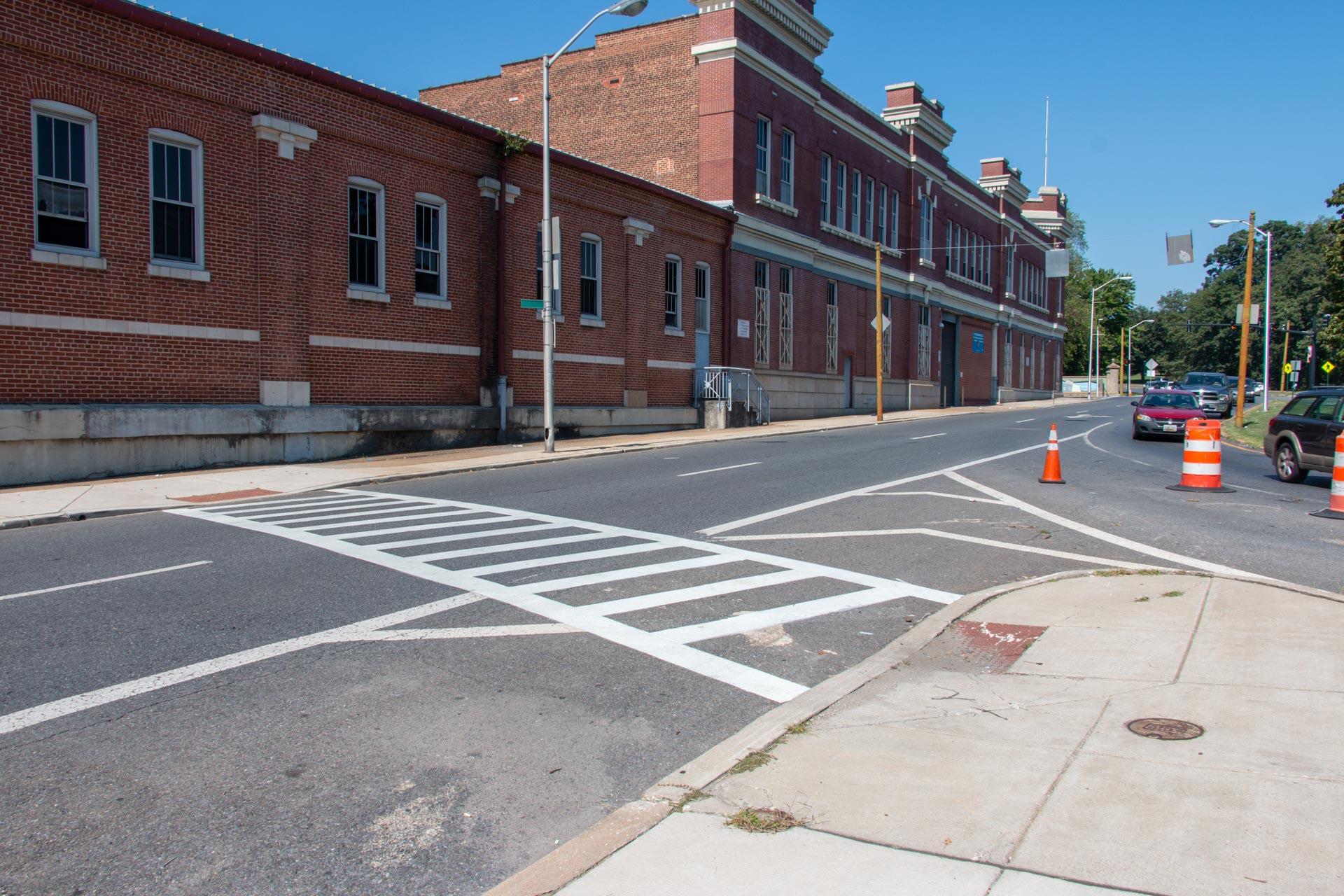 190904 Druid Hill Ave crosswalk after northwest