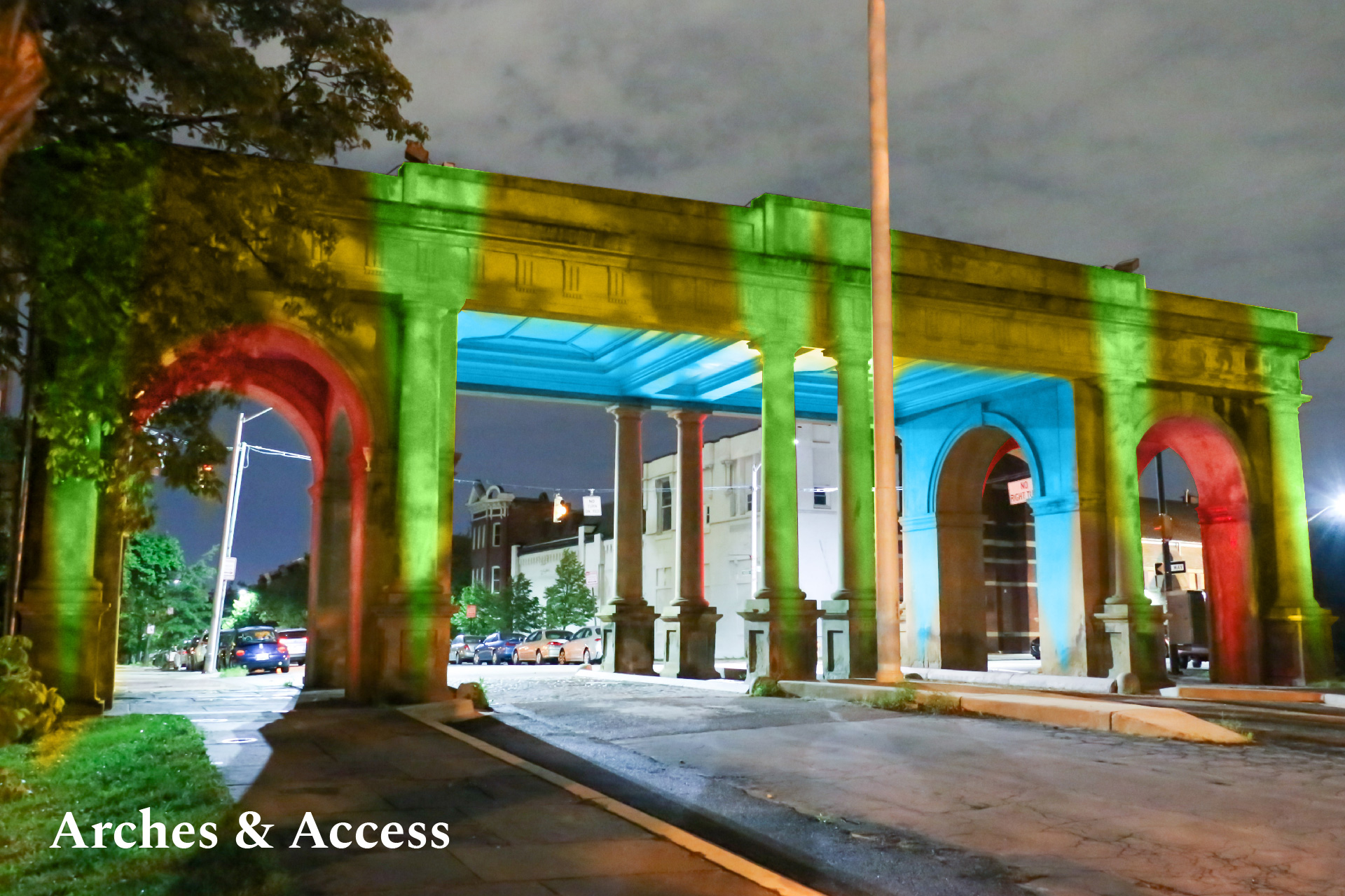 Arches & Access Druid Hill Park Gate rendering