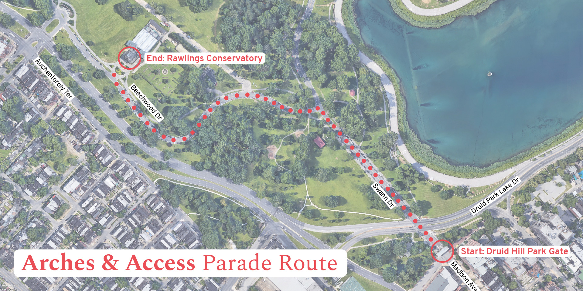 Arches & Access parade route