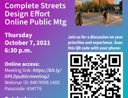 Druid Hill Park Complete Streets Public Meeting Oct 7