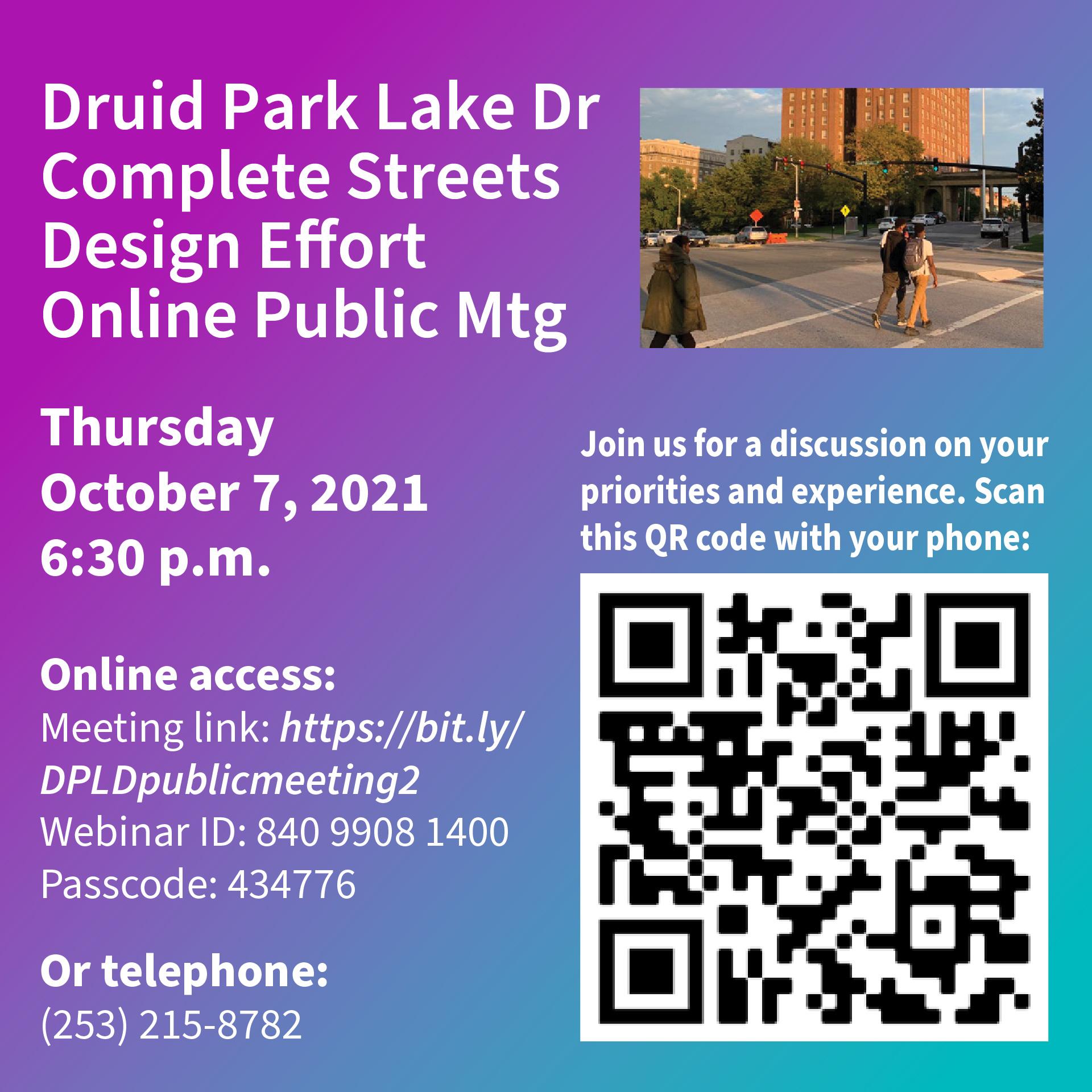 Druid Hill Complete Streets Public Mtg 10.7.21